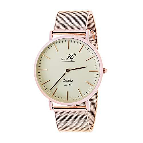 Ingraham Unisex Erwachsene Analog Quarz Uhr mit Edelstahl Armband Gentele 130804