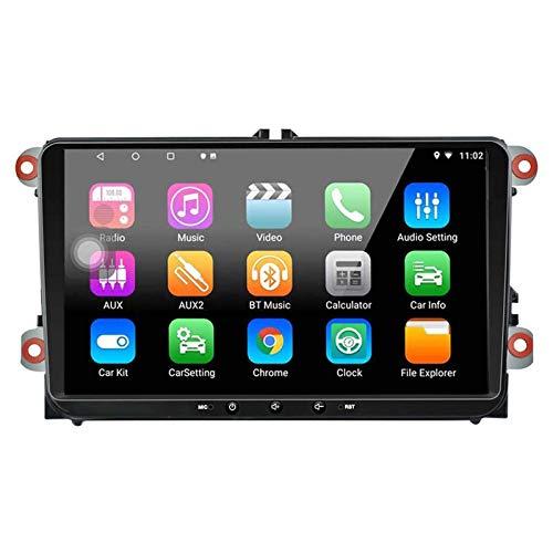 FWZJ Estéreo de Coche Android 8.1 para VW Polo Passat Golf MK5 MK6 Jetta T5 EOS Touran Seat Sharan |Pantalla táctil de 9 Pulgadas Radio de Coche Navegación GPS Bluetooth Am/FM MirrorLink Repro