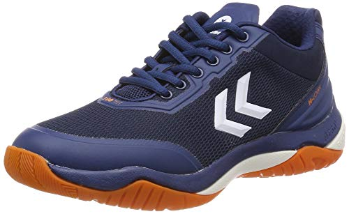 hummel Unisex-Erwachsene DUAL Plate Skill Trophy Multisport Indoor Schuhe, Blau (Poseidon 8616), 45 EU