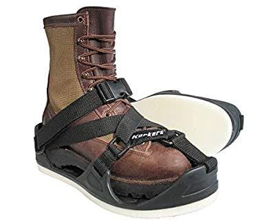 Korkers TuffTrax 3-in-1 Overshoe Sandal for Work Boots - Adaptable Traction for Roofing Work - XL