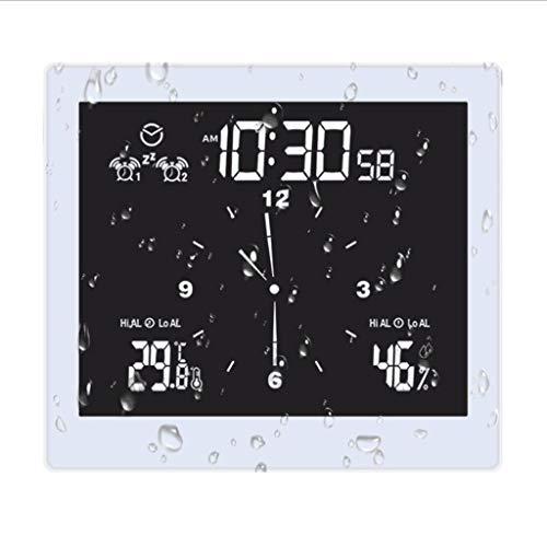 Vfhdd Termohigrómetro digital reloj despertador de temperatura interior temporizador de humedad