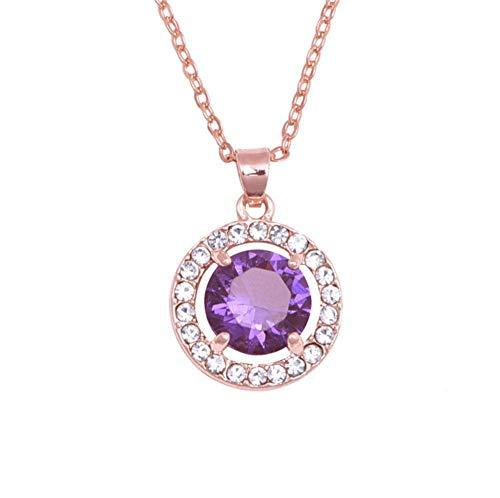 Hoveey Halskette mit Strasssteinen, Lange Pullover-Kette, Persönlichkeit, glänzt Meteorit Anhänger für Damen, Temperament Halskette für Mädchen