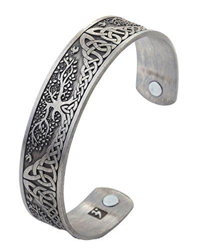 Armreif mit Design des Pagan Yggdrasil Baum des Lebens, nordische Mythologie, magnetisches Gesundheits-Armband, für Damen und Herren