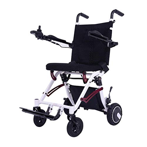 EBEI Electric Wheelchair Super Lightweight Foldable Power Mobility Aid Wheelchair Weight Only 36Lbs Support 220 Lbs Heavy Duty