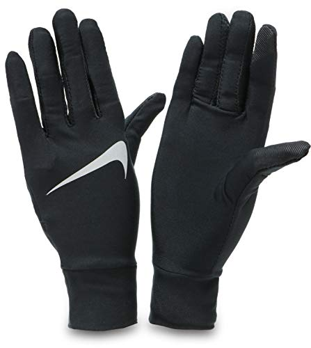 Nike Damen Womens Lightweight Tech Running Gloves 082 Handschuhe, Black/Silver, S