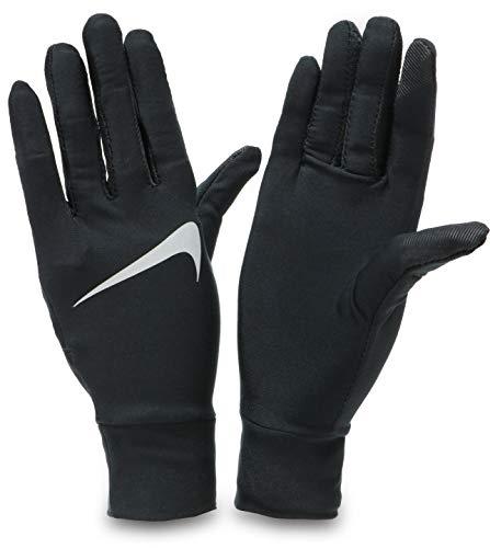 Nike Guantes para Mujer Lightweight Tech 082 para Correr, Negro/Plata, XS