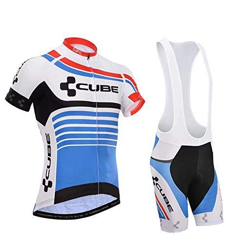 Pantaloncini Ciclismo Abbigliamento Ciclimo Professionale con 3D Gel Cuscino Traspirante per Bicicletta Magliette Ciclismo Maniche Corte Completo Ciclismo Estivo Uomo