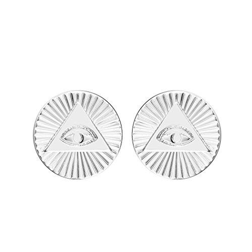 Ver ojos malignos pendientes oro ojo de dios ojo de tercer ojo Stud Vintage pendientes para las mujeres fiesta regalo