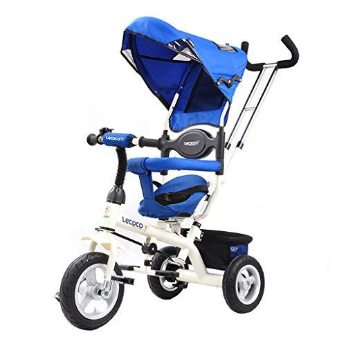 GYF Triciclo Redondo Bidireccional Carro Infantil Bicicleta for Bebés De 1-6 Años Bicicleta Infantil Regalo De Cumpleaños De Niño Y Niña (Color : Blue)