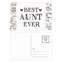 これまでに最高の親戚のおばさんの引用 公式ポストカードセットサンクスカード郵送側20個