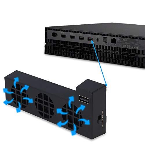 TwiHill Ventilador de resfriamento é adequado para refrigeração host XBOX ONE X, XBOX ONE X e dissipação de calor, Acessórios XBOX ONE X