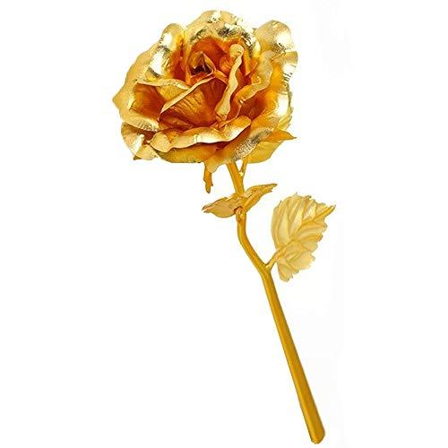 Vanra 24K oro rosa foil fiori 15,2cm Handcrafted scorso sempre con Gift Box, testo personalizzato–miglior regalo per San Valentino, festa della mamma, Natale, compleanno, matrimonio