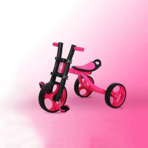 Passeggino Bambini Triciclo Bicicletta Bambino Big Harley Bici da 2-3-5 anni GAOLILI (Colore : Rosso)