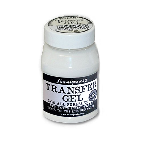 Transfer Gel decoupage 100ml Stamperia per trasferire immagini disegni da foglio carta a qualsiasi superficie DCFTR100