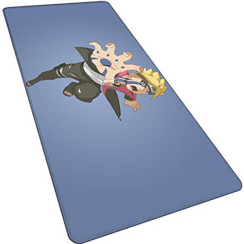 Grande 800X300X3mm XL,Ninja Hero-D Alfombrilla de ratón de Oficina Alfombra para ratón Gaming Teclado Ordenador Anime cojín para el Escritorio para Tablet Ordenador portátil