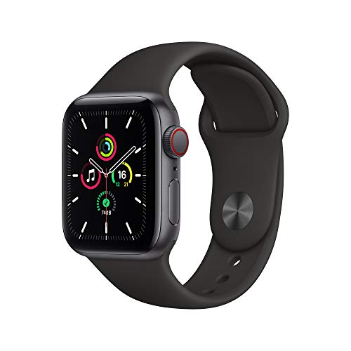 New Apple Watch SE (GPS + Cellular, 40mm) - Space Grey Aluminium Case with Black Sport Band