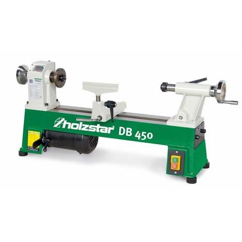 Holzkraft 5920450 Piccolo tornio per Legno Modello Db 450-Max Diametro tornibile 254 mm, 370 W, 230 V