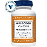 The Vitamin Shoppe Apple Cider Vinegar with Apple Pectin 108 MG A Fermented Superfood with 25 Acetic Acid, Supports Digestive Health (600 Tablets)