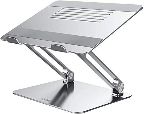 Nillkin Laptop ständer, MacBook ständer tragbarer Laptop-Riser aus Aluminium kompatibel mit MacBook Pro/Air 13 16, Dell, Lenovo, HP, Surface und andere 11-17-Zoll-Notebooks(Silber)