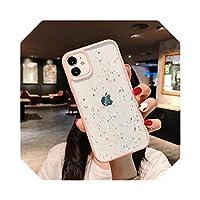 新しいキラキラスタースパンコールソフトブリンブリンクリアケースfor iPhone7 8 Plus 12 Mini 11 Pro Max XS XR X SE2020透明ソフトTPUカバー -Pink-For for iPhone 6 Plus