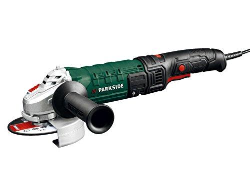 Parkside® Smerigliatrice angolare PWS 125D3(velocità regolabile in modo continuo, diametro dischi 125 mm, 1200W, con disco di taglio e spazzole di carbone di ricambio)