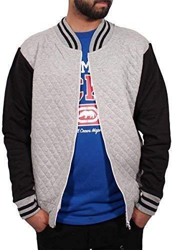 Big Dawg Special Mens Boys Bomber Trapuntato Varsity Baseball Jacket College Hip Grigio L