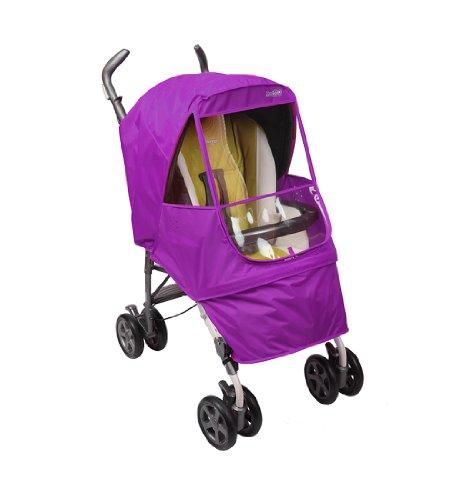 Manito Elegance Alpha - Protector de lluvia para cochecito de bebé, color morado