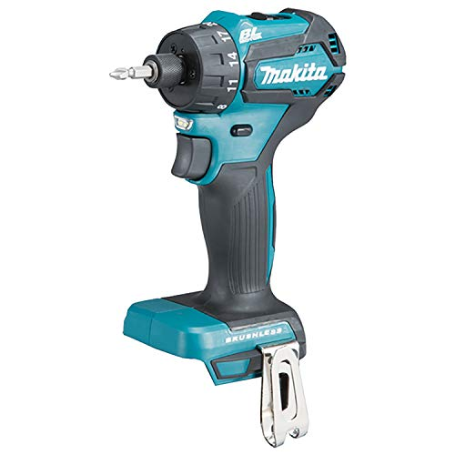 Makita DDF083Z Brushless Drill Driver 40Nm (Compact) -1/4' Hex Drive, 18 V, Blue, Set of 3 Pieces