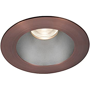 Copper Bronze WAC Lighting HR3LEDT118PS827CB Tesla PRO 3.5 LED Round Open Reflector Trim with Light Engine 2700K Narrow Beam, 80+ CRI