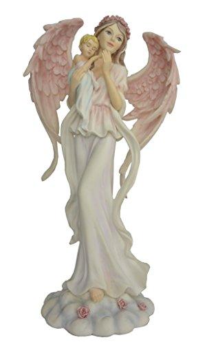Statuette FEE Ange ET Son Bebe, (Hauteur 30.5 X 16 cm), Figurine Ange, Statuette Ange