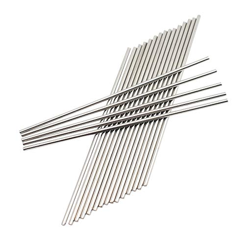 CCTVMTST 20Pcs Stainless Steel 3mm x 150mm Round Shaft Rod Bar Axle for DIY RC Toy Car Helicopter Airplane