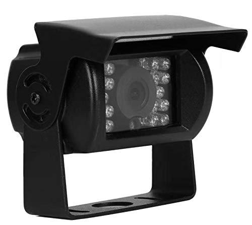 Telecamera per retromarcia, 24 V, 4 pin, grandangolo 170°, IP68, impermeabile, visione notturna 18IR, per camion, rimorchi, autobus, furgoni, agricoltura, trasporto pesante
