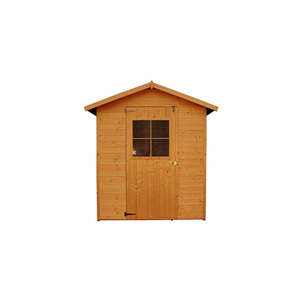 TIMBELA Abri de Jardin en Bois IMPRÉGNÉ – Stockage extérieur avec Plancher- H216 x 198 x 149 cm/2.1m2 – Construction de…