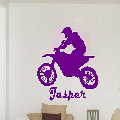 hetingyue Benutzerdefinierte Name Kunst Wand Aufkleber Motorrad Sport Junge Zimmer Tapete Vinyl Wand Aufkleber Aufkleber Hauptdekoration benutzerdefinierte