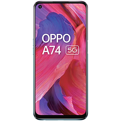 OPPO A74 5G (Fluid Black,6GB RAM,128GB Storage) – 5G Android Smartphone | 5000 mAh Battery | 18W Fast Charge | 90Hz LCD Display