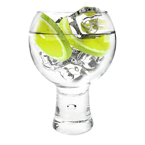 Ginsanity [Alternato groß [540 ml] Short Stem Copa Glas Gin und Tonic [G&T] Balloon Gläser Für Cocktails und Geschenkbox