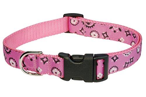 Medium Pink Bandana Dog Collar: 3/4