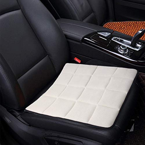 Verwarmde autostoelbekleding ademende vierseizoenen auto Ice mixed stof metalen stoelhoes-kussen-oplegmat, voor autoaccessoires, bureaustoel kaki