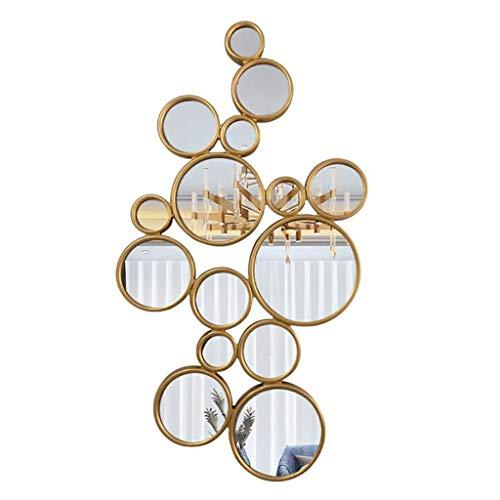 LDJ Sunburst Spiegel, Wand-Dekor Sunburst Wand befestigten Spiegel mit Mid Century Modern Style, Goldfarben Full-Length Mirror