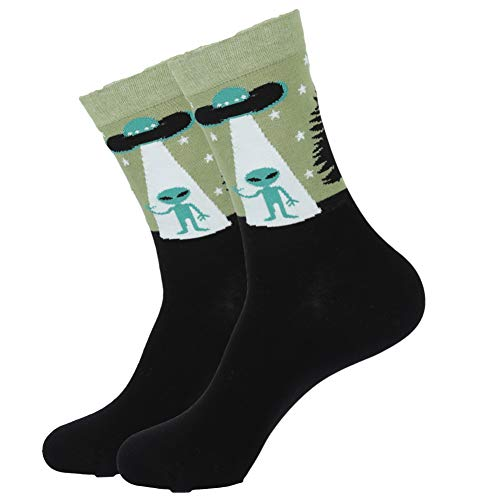 WLQXDD 3 Pares comienzan a venderse Calcetines Calcetines De Algodón para Hombre Invierno Harajuku Colorido Divertido Caca Dinosaurio Sushi Bigote Vestido Calcetines Pa