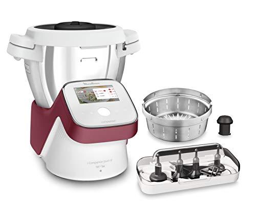 Moulinex I-Companion Touch XL HF9345 Robot de cocina de 3.5 L, acero inoxidable, 14 programas automáticos, wifi, pantalla táctil, 6 accesorios incluidos, apto lavavajillas, app libro recetas