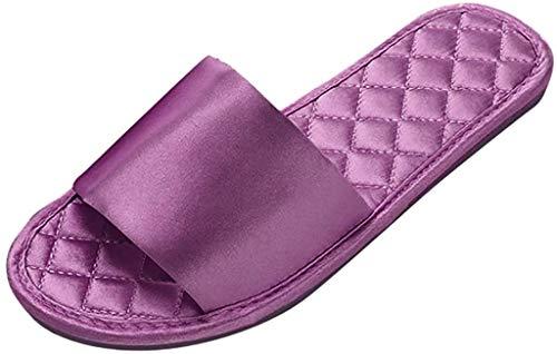 LCFF Chanclas Ducha Mujeres Zapatilla de Verano Suave Diapositivas Sandalias Inicio Moda Baño Playa de los Deslizadores Indoor Shoes (Color : Purple, Size : UK4.5-36 EU)