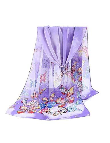 BOLAWOO Las Mujeres De Moda Foulard Chal Viscosa De Nuevo Islámico Musulmán Hijab Mode De Marca Hijab Maxi Maxi Recorte Llanura Bufanda Bufandas (Color : Lila, Size : One Size)