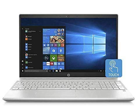 HP Touch 15-CW100 Slim High Performance Laptop in Silver Ryzen 5 Quad Core up to 3.7GHz 16GB 256GB SSD 15.6in HD BO Audio Vega 8 Graphics (Renewed)