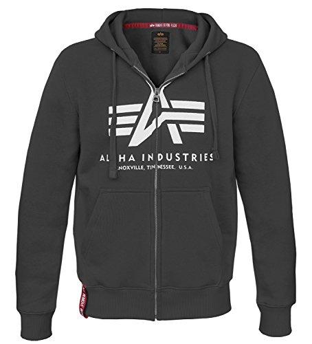 Alpha Ind. Basic Zip Hoody schwarz - XL