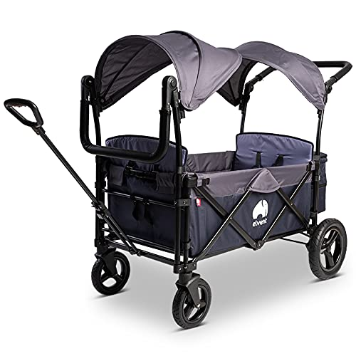 elvent® FamilyStar Premium Bollerwagen - faltbar mit Dach   Sitzpolster,...