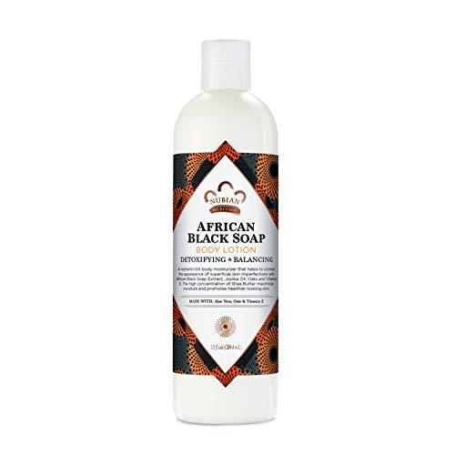 Nubian Heritage Body Lotion for Dry Skin African Black Soap Paraben Free Body Moisturizer 13 oz
