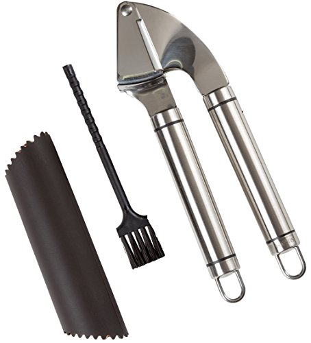 Kitchen Winners Stainless Steel 8.5 Inch Long Locking Serving Tongs Set of 3 S1007