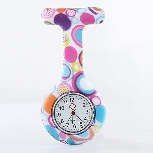 Tipo de Clip Hebilla de Cadena Colgante Cuarzo Hombres y Mujeres Neutral Casual Reloj de Bolsillo Colgante Enfermera Mesa Alfabeto reloj-01