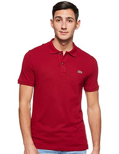 Lacoste PH4012, T-shirt Polo Uomo, Rosso (Bordeaux 476), Large (Taglia Produttore: 5)